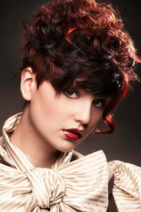 Short curly red hair cut