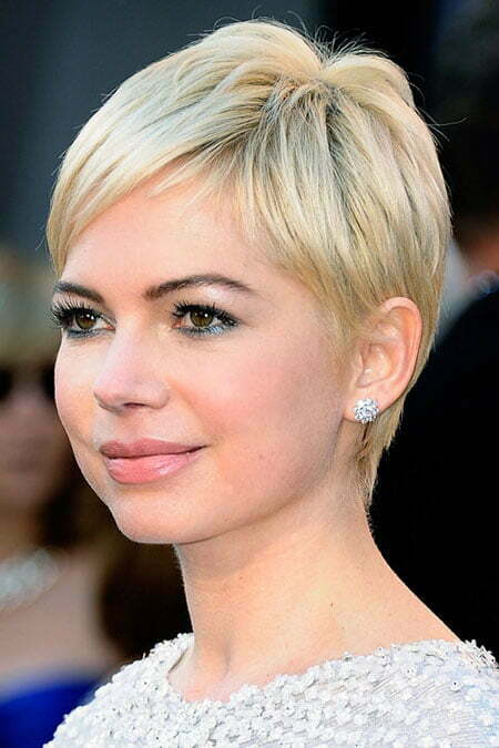 Super Short Blonde Pixie Cut