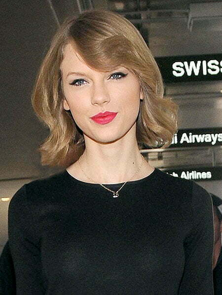 Taylor Swift Wavy Bob Hairstyle