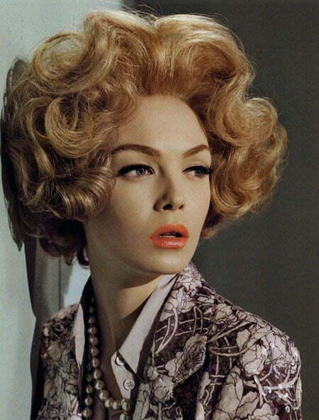 Curly Hair Vintage Style : Short vintage hairstyles