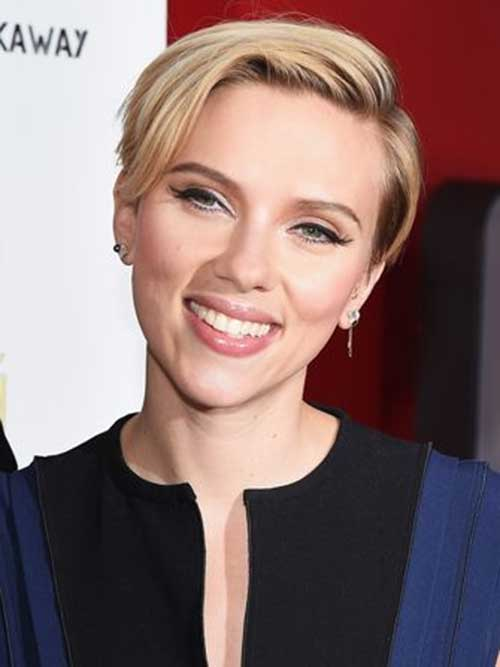 Short Cute Blonde Pixie Style