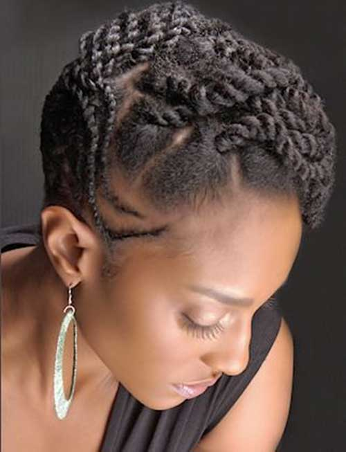 Braided Up Dos and Natural Hairstyles