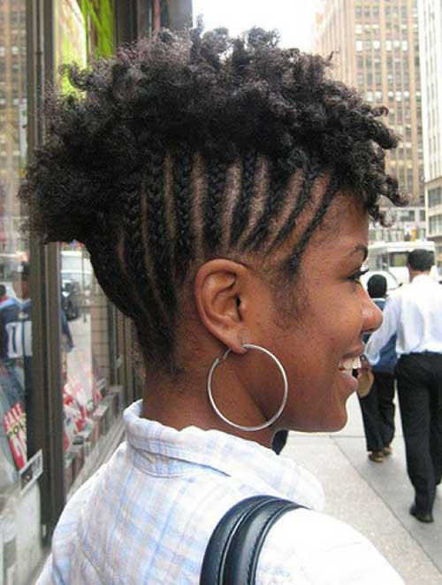 Cool Braids For Black Women With Short Hair Short Hairstyles 2016 Short Hairstyles Gunalazisus