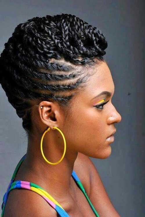 Awe Inspiring Braids For Black Women With Short Hair Short Hairstyles 2016 Hairstyles For Men Maxibearus