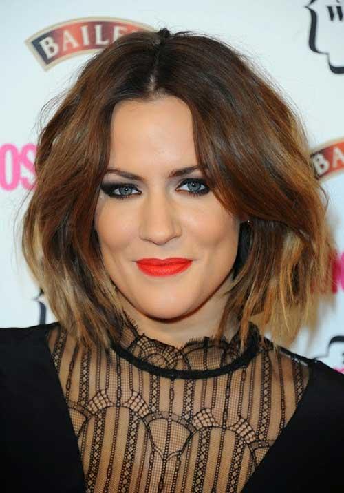 Caroline Flack Hair Choppy Bob Style