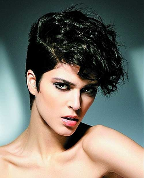 Surprising 20 Curly Asymmetrical Pixie Hairstyles Short Hairstyles 2016 Hairstyles For Men Maxibearus