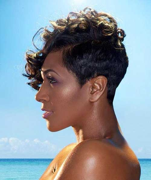 Remarkable 20 Curly Asymmetrical Pixie Hairstyles Short Hairstyles 2016 Hairstyles For Women Draintrainus