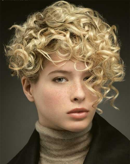 Pleasant 20 Curly Asymmetrical Pixie Hairstyles Short Hairstyles 2016 Hairstyles For Men Maxibearus