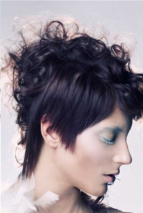 Side Pictures Of Short Asymmetrical Hairstyles 2015