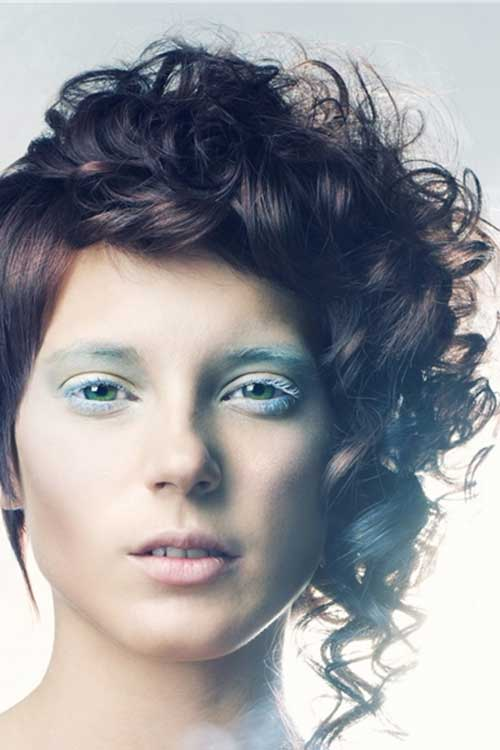 Outstanding 20 Curly Asymmetrical Pixie Hairstyles Short Hairstyles 2016 Hairstyles For Women Draintrainus