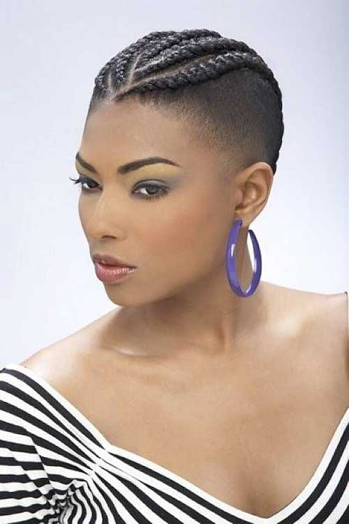 style with short hair braids for black with hair 3759 | Short Braided Hairstyles for Black Women