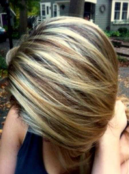 Blonde Highlights Hair Color Idea