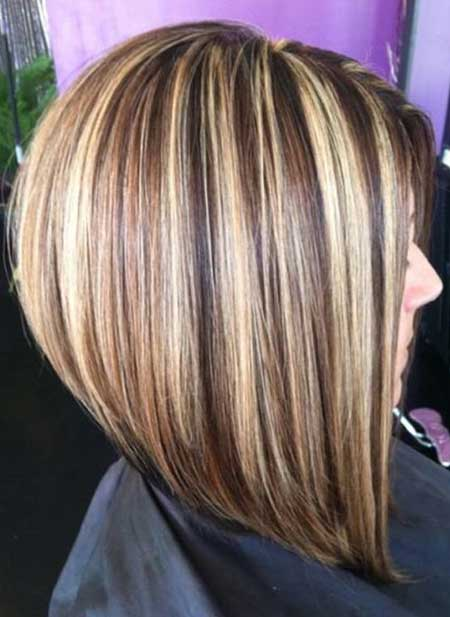 Short Brown Hair with Highlights and Lowlights