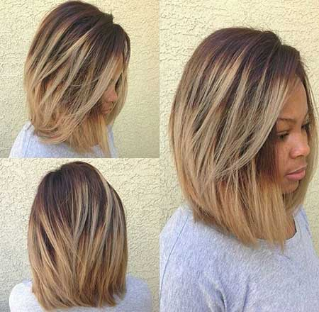 Short to Medium Length Layered Hairstyle for Girls