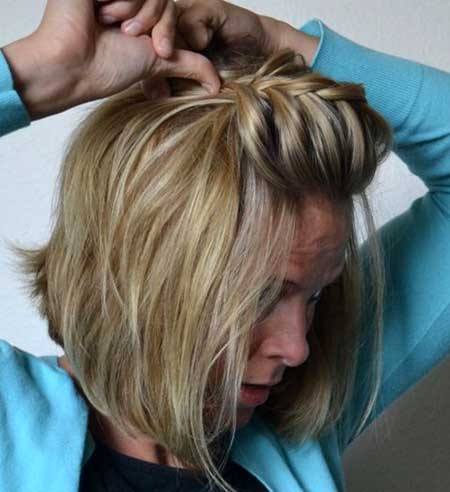Gorgeous Pouf Braid Hairstyle for Short Hair