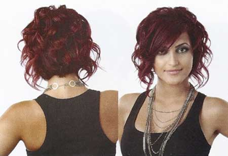 Short and Cute Haircut for Girls with Curly Hair