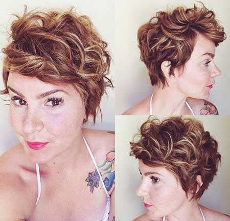 Side Swept Layered Haircut for Curly Hair