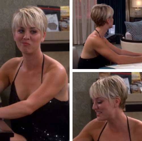 Kaley Cuoco Back Of Pixie Haircuts