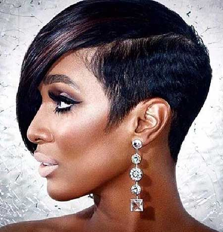 Pleasant Hairstyles For Black Women With Short Hair Short Hairstyles 2016 Hairstyles For Women Draintrainus