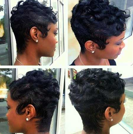 Short Dark Curly Natural Hair