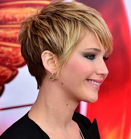 Short Fantastic Blonde Layered Pixie
