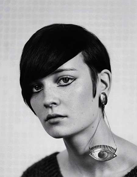 Vintage Dark Short Pixie