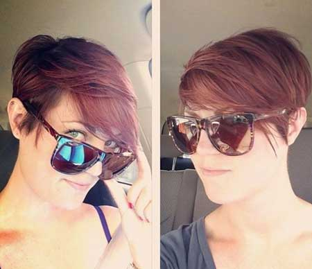 Straight Messy Casual Cute Simple Pixie