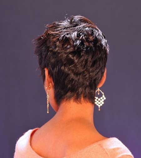 Short Side Layered Cute Pixie