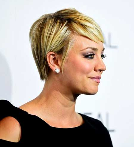 Short Blonde Straight Pixie