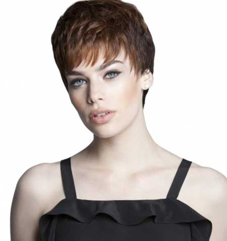 Dark Prown Multi Layered Pixie