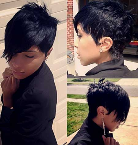 Original Asymmetrical Pixie Hairstyle