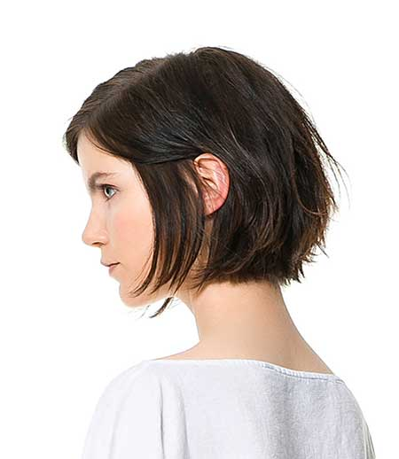 Layered Natural Short Bob