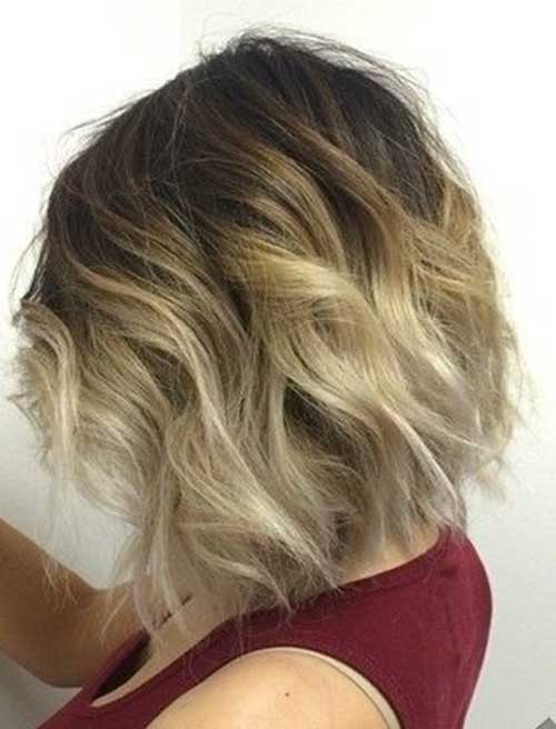 Short Wavy Reversed Ombre
