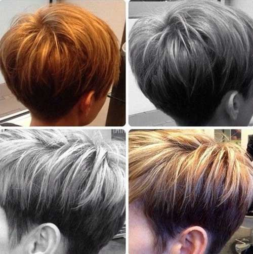 Bouncy Short Inverted Bob Haircut for Girls
