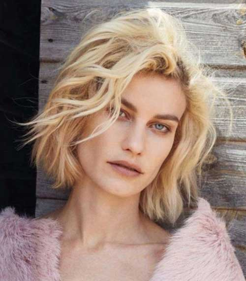 Short Blonde Natural Messy Curly Hair