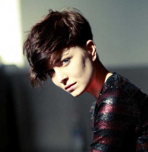 Voluminous Thick Pixie Cut