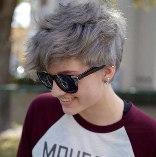 Natural Wavy Pixie Cut