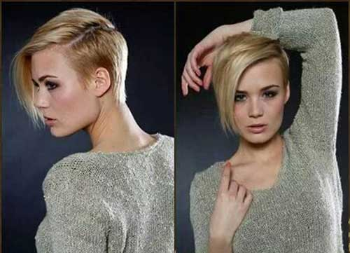 Sexy Blonde Pixie Cut