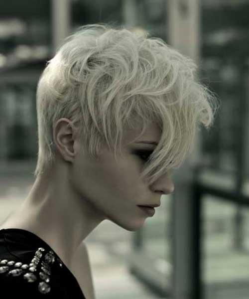Messy Blonde Rebellious Pixie