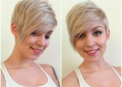 Ash Blonde Straight Pixie