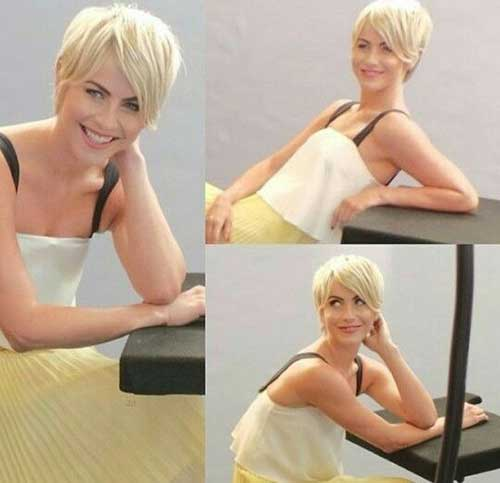 Short Platinum Simple Pixie