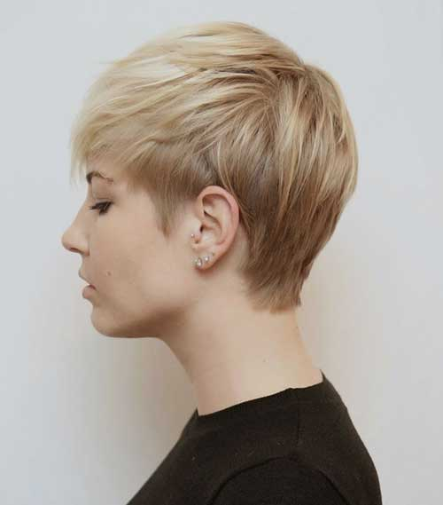 Short Fine Layered Pixie