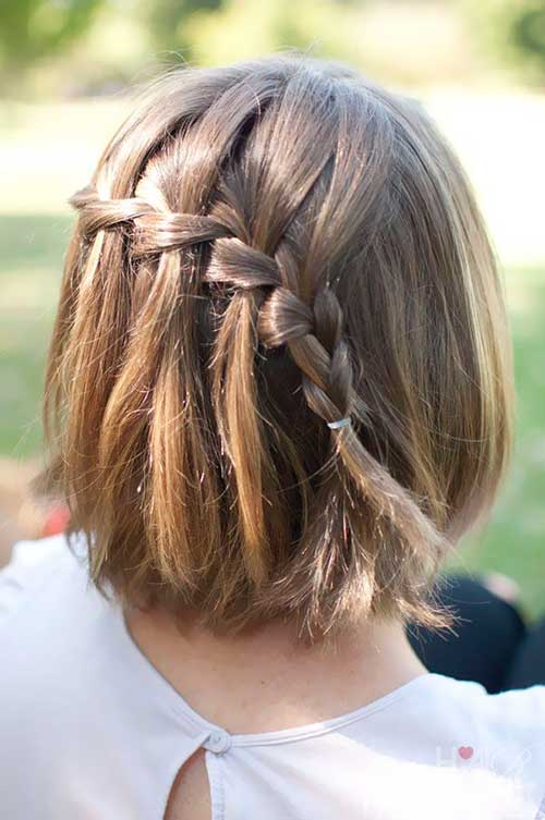 Braided Cute Hairstyles for Girls with Short Hair
