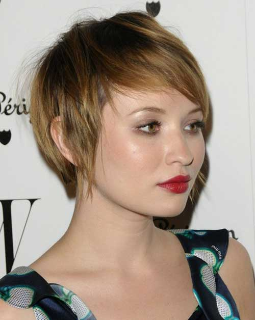 Brown Hair Pixie Crop Haircut