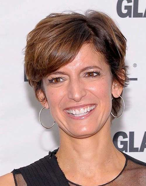 Brown Pixie Cuts for Over 50 Women