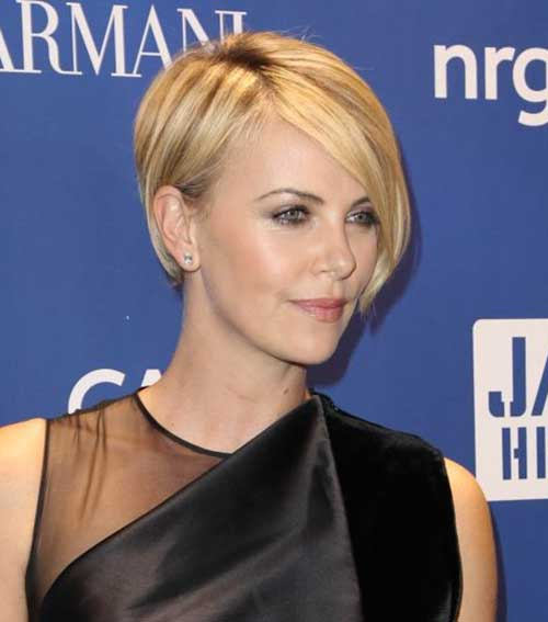 Charlize Theron Pixie Cut for Thin Hair