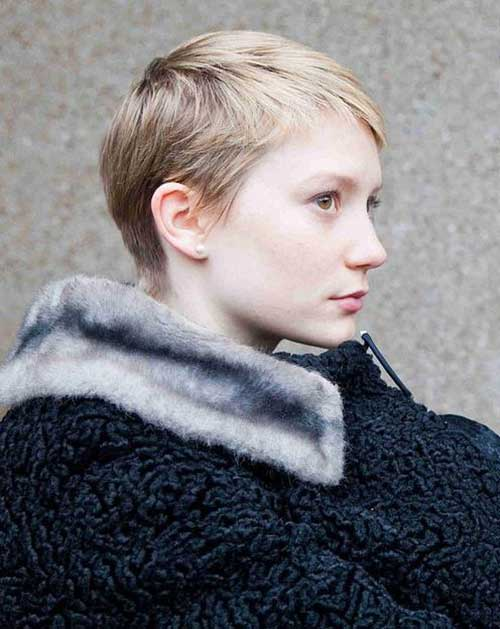 Cute Blonde Pixie Haircut for Thin Hair