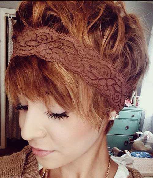 Cute Layered Red Hair with Headband