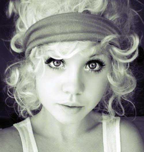 Headbanded Curly Cute Blonde Hair