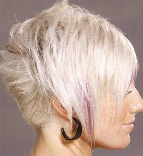 Short Voluminous Light Straight Hair